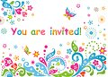 Funny Colorful Childish Invitation Royalty Free Stock Photos - 55493828