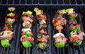 Shish Kabob On The Barbeque Royalty Free Stock Photo - 5555515