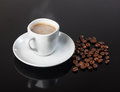 Cup Of Coffee, Coffee Beans Stock Image - 55510591