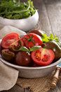 Ripe Fresh Tomatoes In A Bowl Royalty Free Stock Photo - 55526115