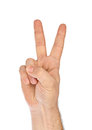 Hand - Victory Sign Royalty Free Stock Photos - 55529728