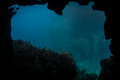 Submerged Cave Mouth Royalty Free Stock Photos - 55531308