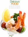 Shrimp Cocktail Isolated On A White . Royalty Free Stock Image - 55537276