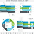 Cold Colors Abstract Infographics Set 2 Royalty Free Stock Photo - 55560225