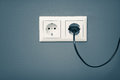 AC Power Plug And Socket Royalty Free Stock Photography - 55582567