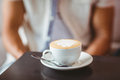 Close Up Of Cup Of Coffee Royalty Free Stock Images - 55583209