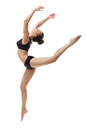 Image Of Graceful Ballet Dancer Posing In Jump Stock Photography - 55587922