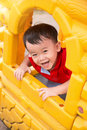 Child In Wooden Window Royalty Free Stock Photography - 55588987