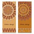 Banners With Ethnic Design. Ancient American Indian Pattern Royalty Free Stock Photo - 55590405