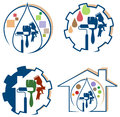 House Painting Logo Set Stock Photography - 55592682