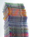 Stack Of CD Jewel Boxes Stock Photography - 5560382