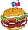 Texas Sized Burger Royalty Free Stock Photography - 5560457