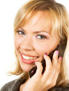 Young Businesswoman Calls On Mobile Royalty Free Stock Image - 5562536