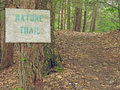 Nature Trail And Sign, Berkshires, Massachusetts Royalty Free Stock Photos - 55623628