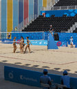 BAKU,AZERBAIJAN-THE FIRST EUROPEAN GAMES-JUNE 20,2015-BEACH VOLL Stock Photo - 55630710
