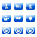Protection Web Internet Square Vector Blue Icon Royalty Free Stock Image - 55635806