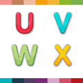 Font Cute Design Cartoon Style Vector Set 06 Royalty Free Stock Photography - 55635987