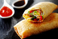 Crispy Vegetable Spring Rolls Royalty Free Stock Photography - 55639057