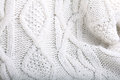 White Wool Knit Sweater Stock Images - 55643234