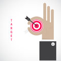 Businessman Hand Shows Target Symbol As Business Concept. Ok Han Stock Images - 55643654