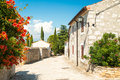 Street Of Medieval Mediterranean Town In Croatia Stock Photography - 55644302