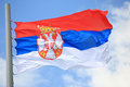Flag Of Serbia Royalty Free Stock Photography - 55650557