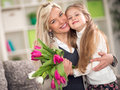 Happy Mother And Daughter Royalty Free Stock Photo - 55661455