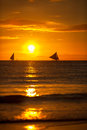 Sailing Boats On Sunset Stock Images - 55661834