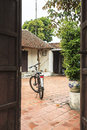 A Bicycle In Ancient Village In Hanoi Royalty Free Stock Image - 55663726