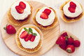 Homemade Strawberry Cupcakes Royalty Free Stock Photography - 55669957