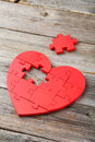 Red Puzzle Heart Stock Image - 55672111