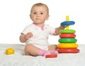 Cute Baby Wih Toy Royalty Free Stock Image - 55676206