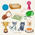 Some Cute Vector Stuff For Pets Stock Photos - 55677973