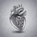 Steam Punk Metal Heart With Gears Stock Photos - 55686423