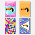 Bright Colored Set With Geometric Toucan For Use In Design For Card, Poster, Banner, Placard,  Brochures Or Billboard Cover Stock Images - 55686474