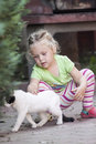 Little Girl With Cat Royalty Free Stock Photos - 55698598