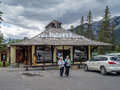 Indian Trading Post In Town Of Banff Stock Photos - 55701243