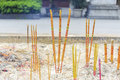 Incense Sticks In Asian Chinese Temple, China Asia Royalty Free Stock Image - 55708136