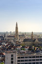 Aerial View On The Cathedral Of Our Lady And The Church Of Saint Paul In Antwerp Stock Photography - 55712452
