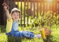 Little Girl In Nature Stock Images - 55714634