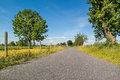 Polder Road In Netherlands Stock Images - 55750214