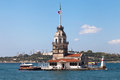 Maiden Tower, Blue Mosque And Hagia Sophia Royalty Free Stock Photography - 55764117