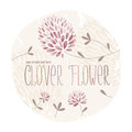 Clover Flower Circle Royalty Free Stock Image - 55767536