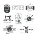 Set Of Vintage Tailor Labels, Emblems And Design Royalty Free Stock Photography - 55769407