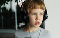 Boy With Headphones Royalty Free Stock Photography - 55783487