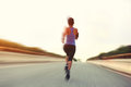 Young Fitness Woman Runner Running Stock Photo - 55787800