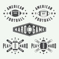 Set Of Vintage Rugby And American Football Labels, Emblems And Logos Royalty Free Stock Image - 55789736