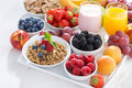 Delicious And Healthy Breakfast With Fruits, Berries And Cereal Stock Photography - 55795582