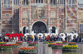 Flowers At The Rijksmuseum In Amsterdam, Holland Royalty Free Stock Image - 55799096