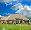 Brick Home For Sale On The Hill Royalty Free Stock Photography - 5583307